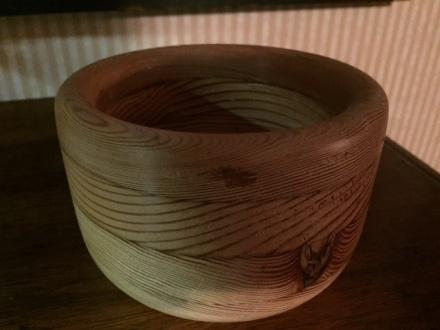 bowl from laminated wood
